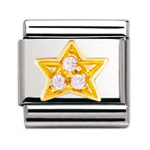 Authentic Nomination Link - Star - Pink CZ