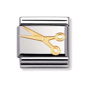 Authentic Nomination Link - Little Scissors - Gold