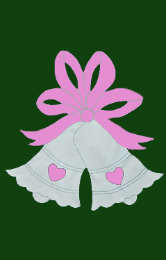 Wedding Bells Flag on Forest with Pink