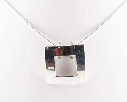 Sterling Silver Slide -Square - Save 65%!