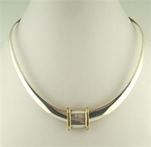 Sterling Silver Square Slide/Brass Edges - 65% off!