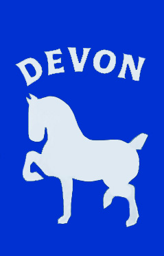 Devon Horse Show Decorative Applique Flag on Royal