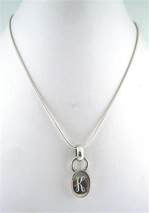 Sterling Silver Pendant - Chunky Oval Slide - Double Loop Bale - Save 50%!
