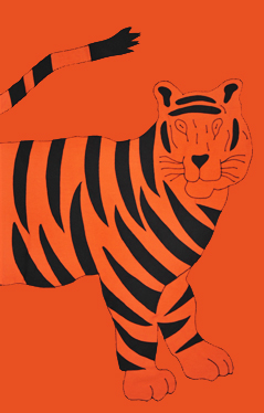 Princeton Tiger Applique House Flag