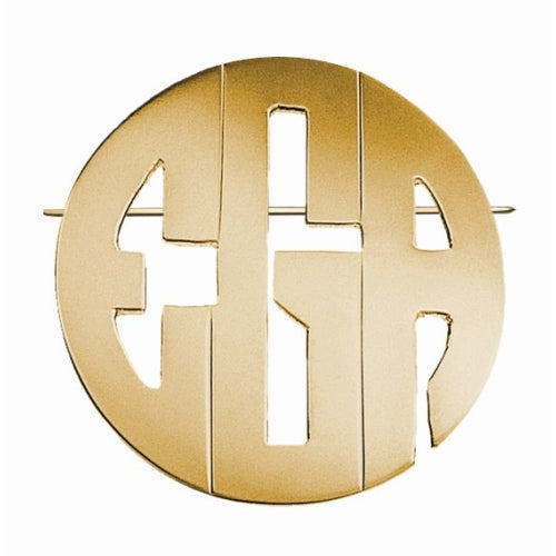 Jane Basch Monogram Pin/Pendant Combo - Block