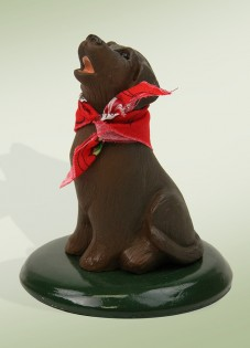 Byers' Choice Chocolate Labrador Dog