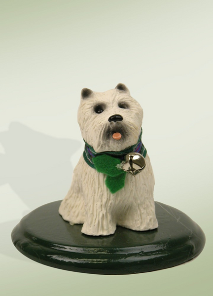 Byers' Choice White Scottie/Westie Dog 614W