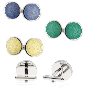 St Christopher Medal Cuff Links