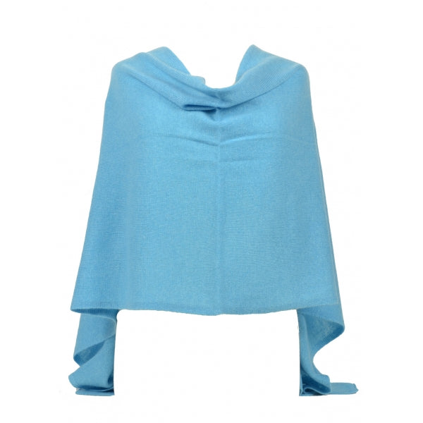 Claudia Nichole Cashmere Dress Topper - Bermuda Blue