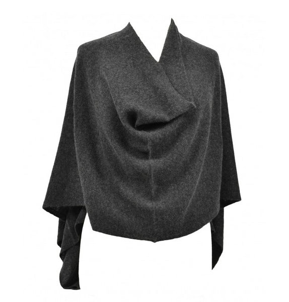 Claudia Nichole Cashmere Dress Topper - Charcoal