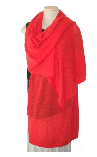 Cashmere Travel Wrap - Mandarin Orange
