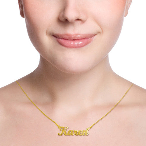 Jane Basch Designs Petite Personal Name Necklace - GOLD