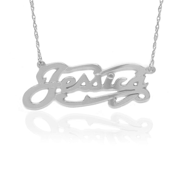 Jane Basch Designs Script Name Necklace - Sterling Silver