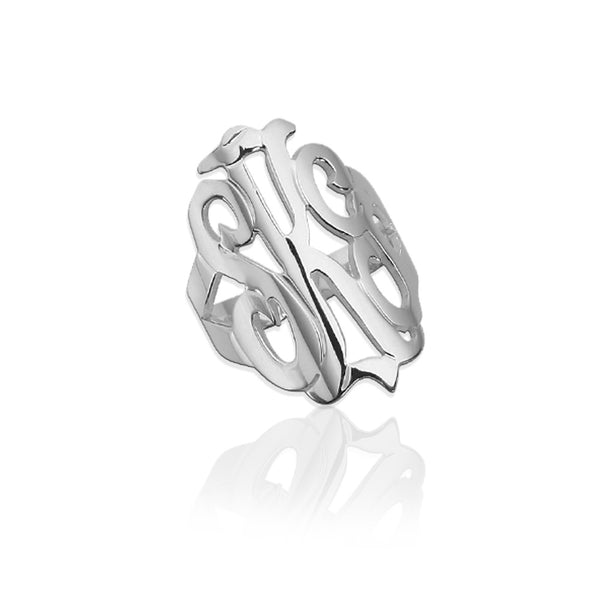 Jane Basch Designs Freeform Monogram Ring