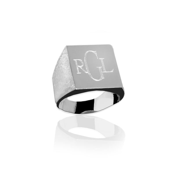Jane Basch Designs Large Rectangle Ring - FREE Engraving