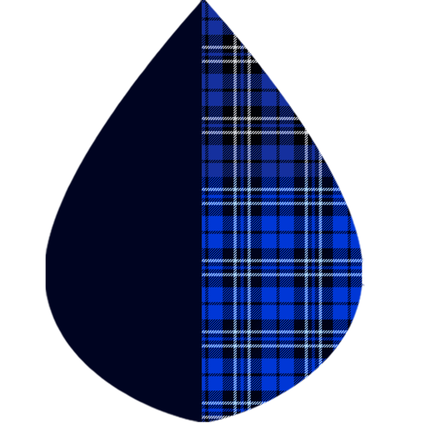 RainCaper Black & Royal Tartan