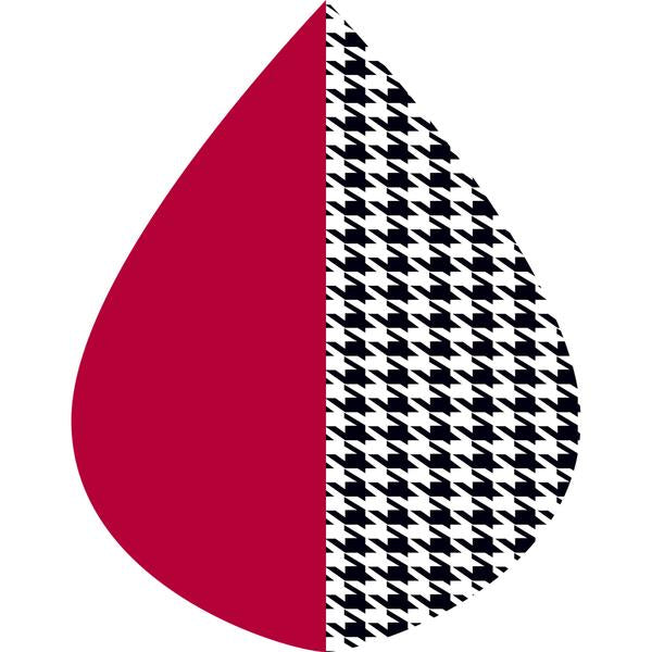 RainCaper Crimson/Black & White Houndstooth