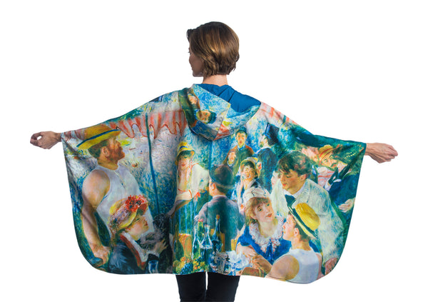 RainCaper Reversible Rain Poncho - Museum Collection Renoir The Luncheon of the Boating Party