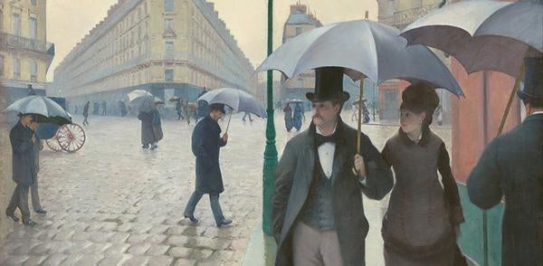 Museum RainCaper Caillebotte Paris Street; Rainy Day