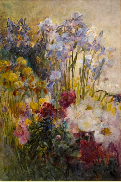 "Museum RainCaper - Tiffany ""Peonies and Iris"""