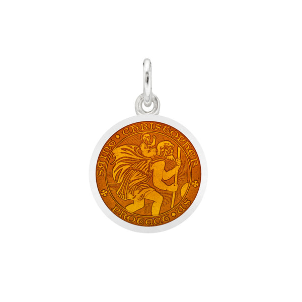 St Christopher Medal French Wire Earrings