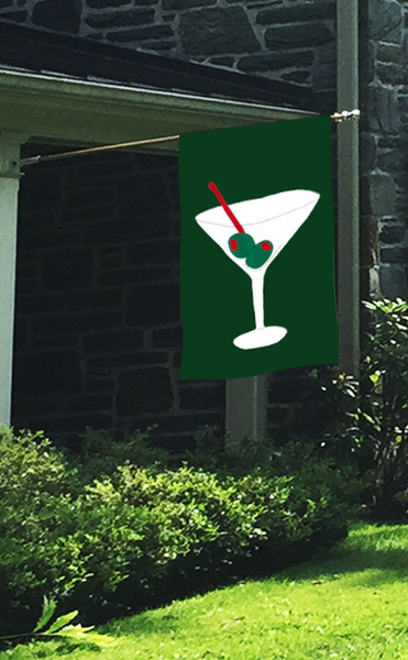 Cocktail Time Martini Flag on Forest