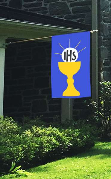 First Holy Communion House Flag on Royal