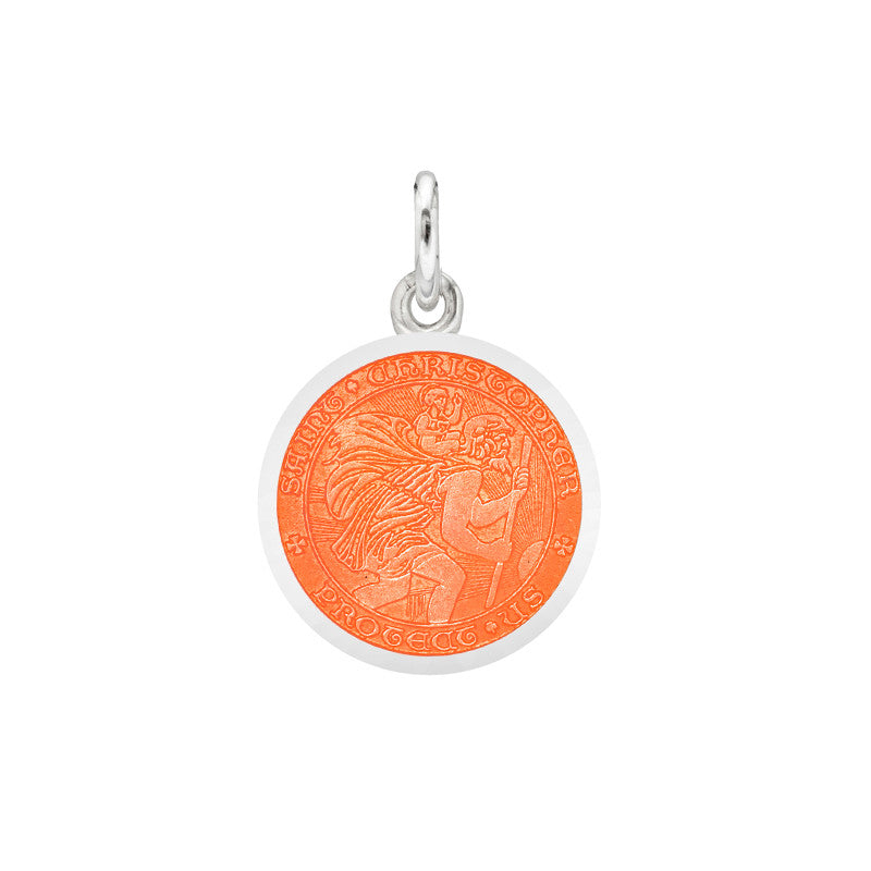 St Christopher Medal French Wire Earrings - Flag Lady Gifts