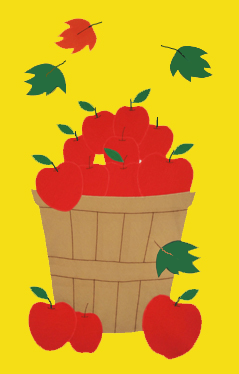 Apple Basket House Flag on Yellow