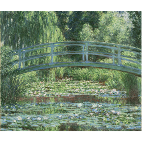 "Museum RainCaper - Monet ""Japanese Footbridge and Water Lily"""