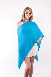 Claudia Nichole Cashmere Dress Topper - Cruise Blue