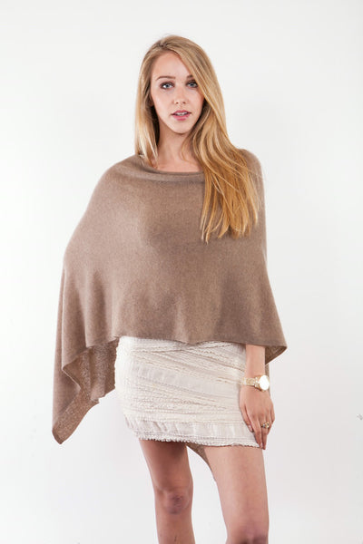 Claudia Nichole Cashmere Dress Topper - Smoothie
