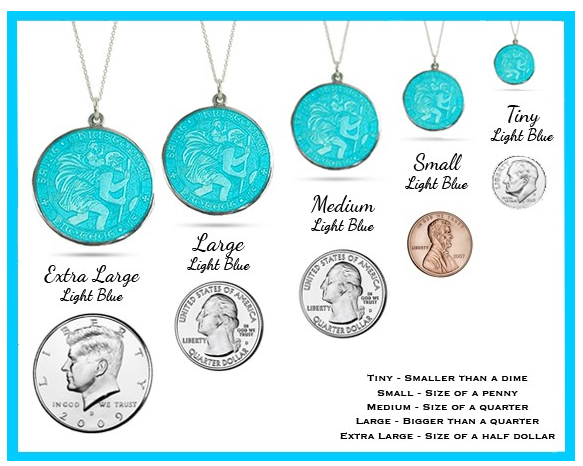 Enameled St Christopher Medals - Best Seller!