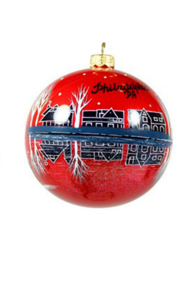 Philadelphia Landmarks Ornament - Red - Save 60%!