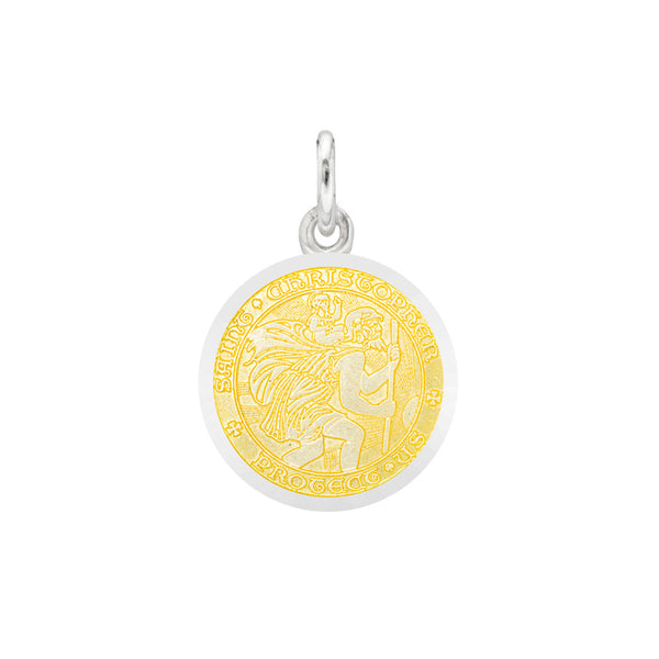 St Christopher Medal Post Earrings
