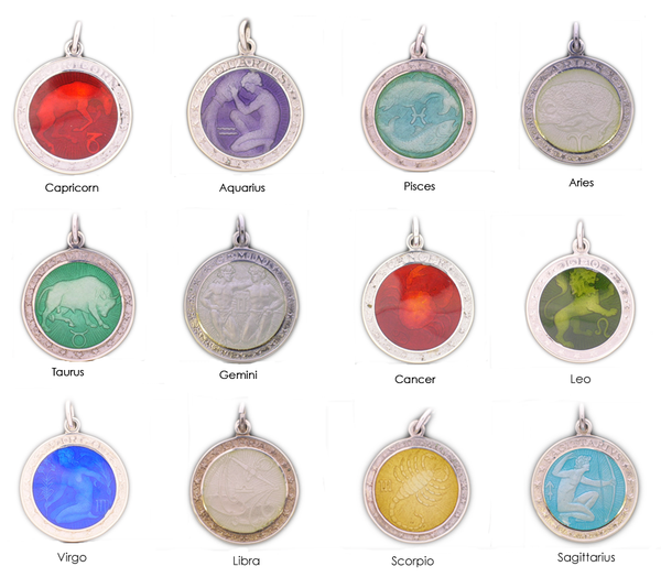 Enamele Zodiac Medals - Two Sizes!