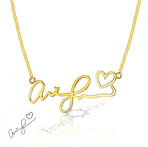 Customized Handwritten Necklaces