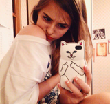 Naughty Cat Iphone Case