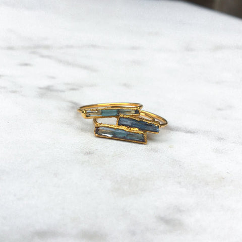 Ring, Blue Aquamarine Statement Ring