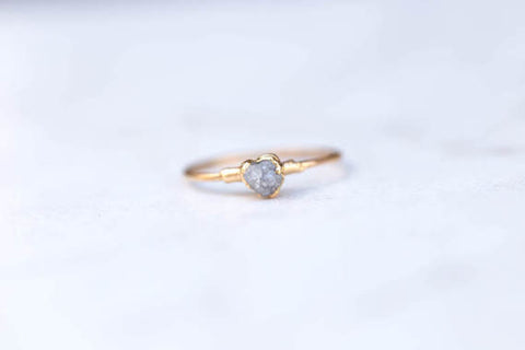 Stackable Raw Diamond Ring