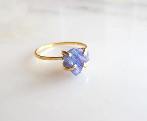 Gold Raw Tanzanite Ring