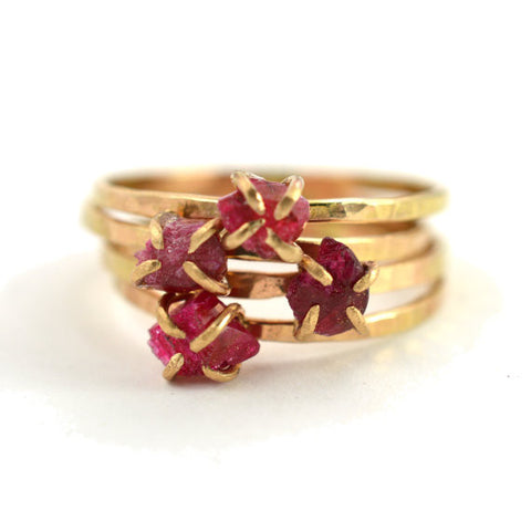 Raw Ruby Ring July Birthstone Ring