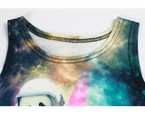Space Panda and Kitty Crop Top