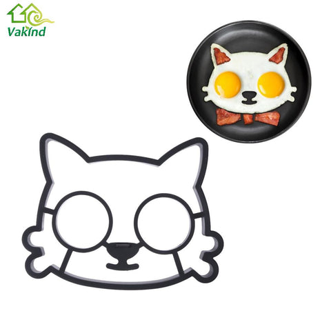 Kitchen Silicone Cats Face breakfast mould