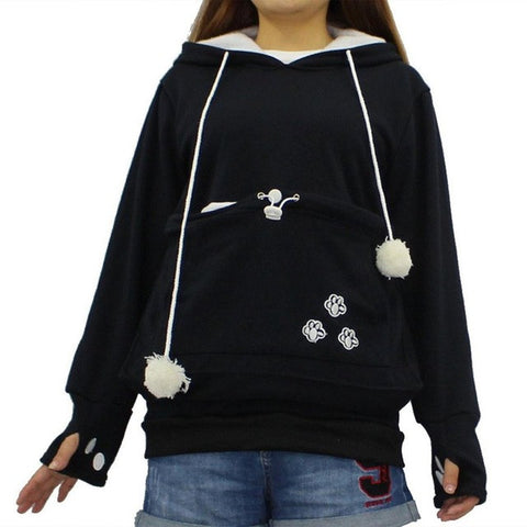 Hoodies With Cat Cuddle Pouch