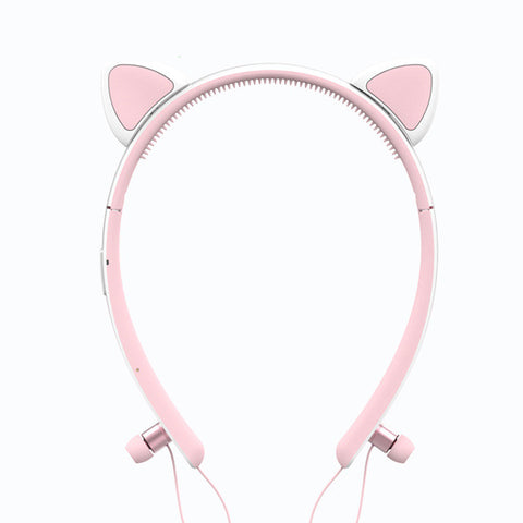 Foldable Wireless Bluetooth Cat Ear headphone
