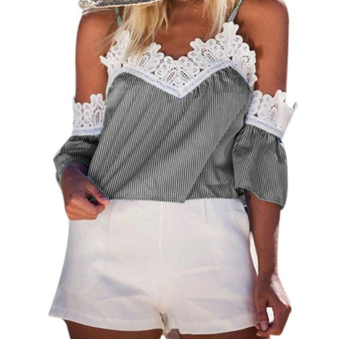 Lace Blouse Crop Top