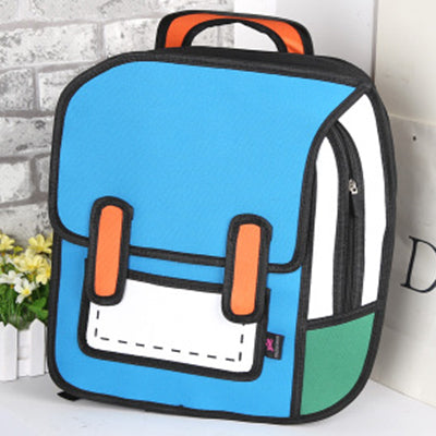 Backpack 2D Drawing Cartoon