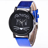 Cat printed Strap Quartz watch