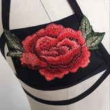 Embroidered Appliques Floral Bralette
